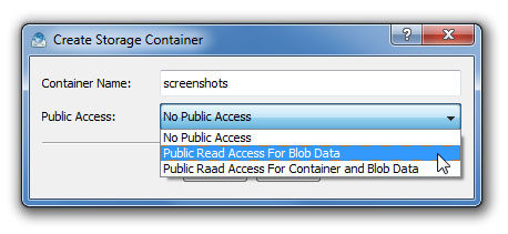 Azure Data Expert Create Storage Container